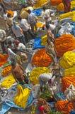 O mercado das flores sob a ponte do howrath, kolkata, india Fotografia de Stock