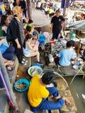O mercado de flutuação Foto de Stock