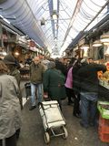 O mercado de jerusalem fotografia de stock royalty free