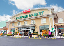 O mercado de produto fresco Fotografia de Stock