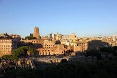 O mercado de Trajan do centro de Roma, Itália Imagem de Stock