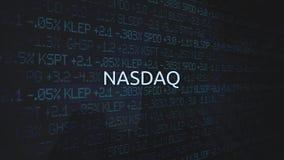 O mercado de valores de ação incorporada troca a série animado - NASDAQ ilustração royalty free