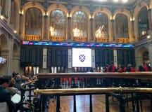 O mercado de valores de ação de madrid imagens de stock