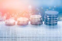 O mercado de valores de ação ou o gráfico e o castiçal de troca dos estrangeiros fazem um mapa de apropriado para o conceito do i foto de stock royalty free