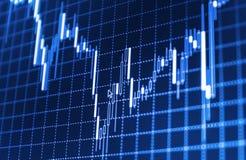 O mercado de valores de ação cita o gráfico Fotos de Stock Royalty Free
