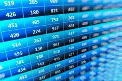 O mercado de valores de ação cita o gráfico Imagem de Stock Royalty Free