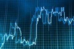 O mercado de valores de ação cita o gráfico foto de stock royalty free