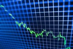 O mercado de valores de ação cita o gráfico Imagens de Stock Royalty Free