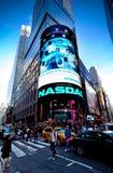 O mercado de valores de acção do Nasdaq Fotografia de Stock