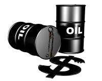 O mercado do petróleo Fotografia de Stock