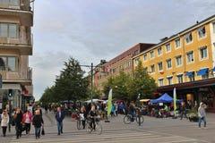 O mercado dos fazendeiros em Luleå imagens de stock royalty free
