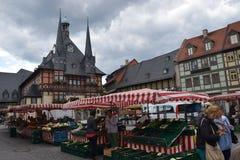 O mercado em Wernigerode fotografia de stock royalty free