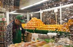 O mercado famoso de New York City chamou Chelsea Market Imagem de Stock