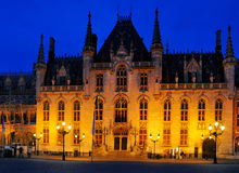 Corte provincial, mercado, Bruges Foto de Stock