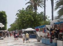 O mercado para em Torrevieja Fotos de Stock Royalty Free