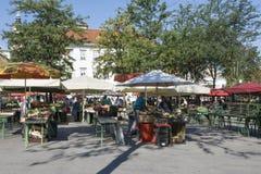 O mercado vegetal em Ljubljana Fotografia de Stock