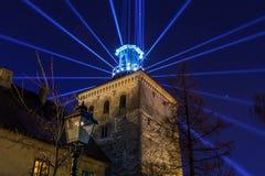 """16o mercado 2018 Zagreb, festival do †da Croácia """"da luz em Zagreb fotos de stock"""