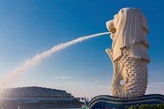 O Merlion, o marco de Singapura Imagens de Stock