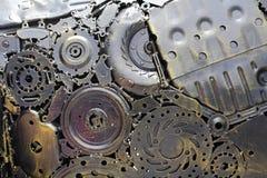 O metal alinha o fundo foto de stock