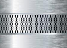 O metal de Gratted escovou Imagens de Stock Royalty Free