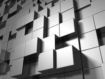 O metal de prata abstrato cuba o fundo Imagens de Stock