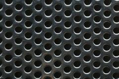 O metal de prata deu forma como um favo de mel para o fundo do projeto imagens de stock