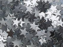 O metal dispersado stars a textura Fotos de Stock Royalty Free