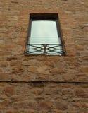 O metal furou janelas do metal fotos de stock