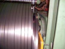 O metal industrial bobina a planta da maquinaria fotografia de stock royalty free