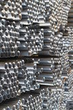 O metal perfila a câmara de ar Fotografia de Stock