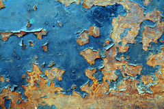 O metal pintado oxidou fundo Foto de Stock Royalty Free