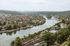 O Meuse e o Namur fotografia de stock