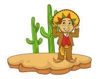 O mexicano caçoa a ilustração com inclinações Fotografia de Stock