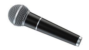 O microfone isolado no fundo branco 3D rende Imagens de Stock