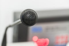O microfone velho Fotografia de Stock Royalty Free