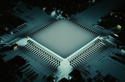 O microprocessador poderoso Fotos de Stock Royalty Free