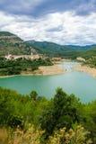 O Mijares ou o Millars são um rio em Aragon e no Co Valencian fotos de stock royalty free