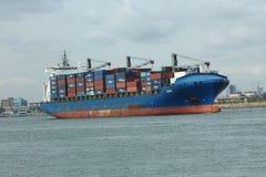 O milivolt Leto Monrovia parte porto de Lagos, Nigéria imagem de stock