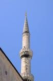 O minarete azul da mesquita imagens de stock royalty free