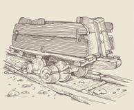 O Minecart histórico ilustração stock