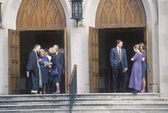 O ministro encontra a assembleia na igreja metodista em Macon Georgia fotografia de stock