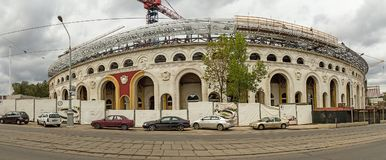 O Minsk Bielorrússia Estádio do dínamo Panorama foto de stock royalty free