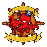 Ośmiornica emblemat Zdjęcia Royalty Free