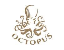 Ośmiornica logo - wektorowa ilustracja dekoracyjnego projekta emblemata graficzny ilustracyjny wektor Obraz Royalty Free