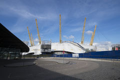 O2 mitt Greenwich London Arkivfoton