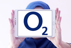 O2 mobile operator logo Stock Photos