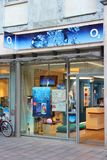 O2 mobile phone company. LUBECK, GERMANY - AUGUST 29, 2014: O2 mobile phone store in Lubeck. As of 2013, Telefonica O2 had 17 percent market share in German Royalty Free Stock Image