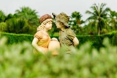 O modelo da criança em um jardim Foto de Stock Royalty Free