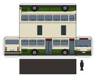 O modelo de papel de um ônibus ilustração royalty free