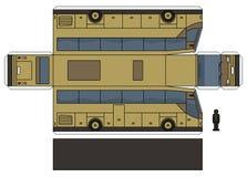 O modelo de papel de um ônibus bege ilustração royalty free